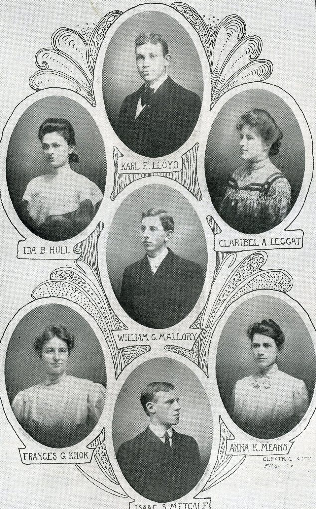 William Malloyr's yearbook photo from the 1906 Hi-Oh-Hi Oberlin College annual
