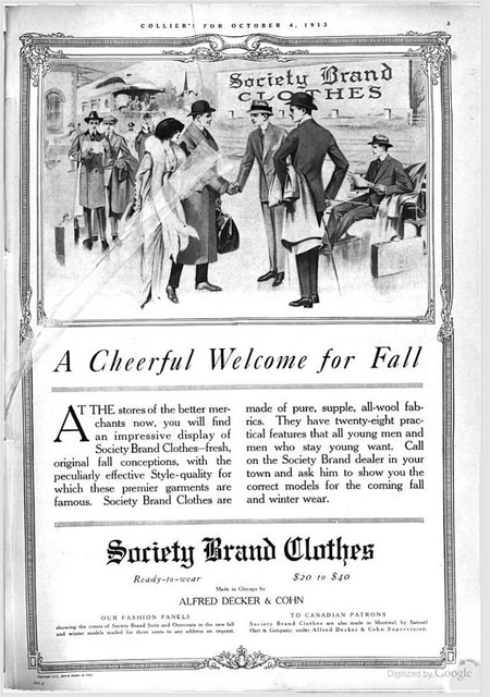 Society_Brand_Clothes_Colliers_1913_Oct_4_advertisement