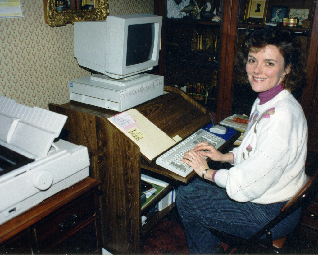 Mary Ann Cunningham working at OHC circa 1993