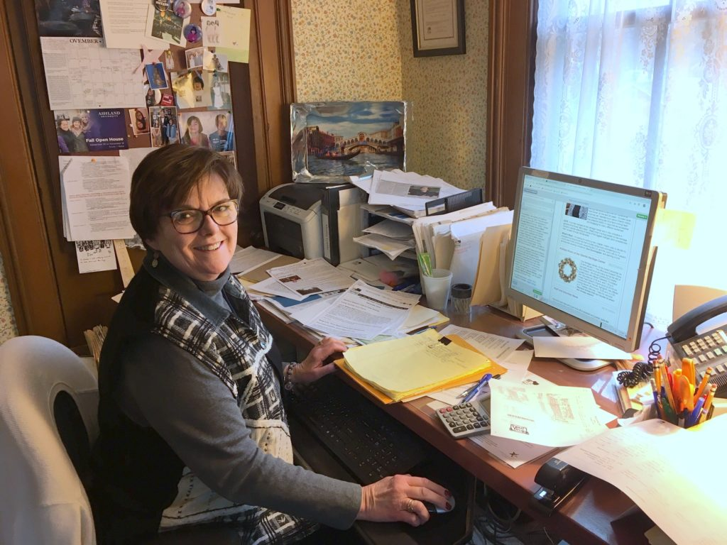 Mary Anne Cunningham working at OHC in 2019