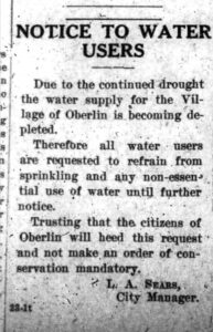 Notice to Water Users 8-7-1930