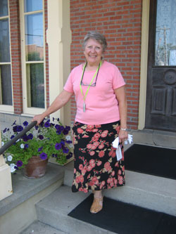 Betty gives tours at the Oberlin Heritage Center and has helped with researc projects