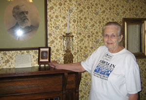 Darlene Krato volunteers to give tours at the Oberlin Heritage Center