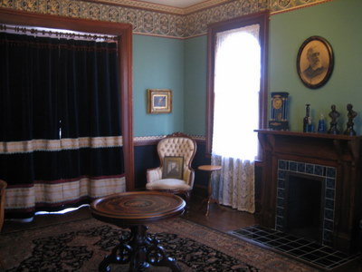 The back parlor of the Monroe House