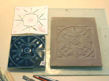 New molds being crafted by Starbuck Goldner Tile based on one of the few remaining originals.