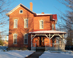 The Jewett House, home of chemistry professor Frank Jewett and public health and hygiene author Sarah Frances Gulick Jewett.