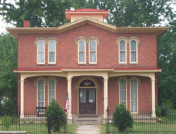The Monroe House, home of Civil War officer Giles Shurtleff and abolitionist and politician James Monroe.