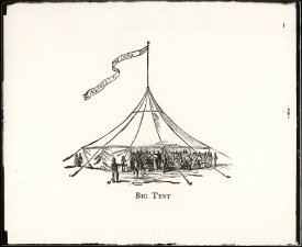 Historic drawing of Finney Tent