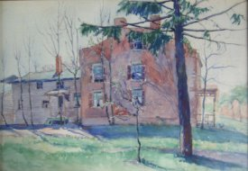 Historic painting of Fletcher's House
