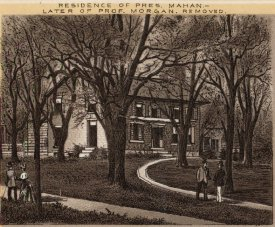 Historic postcard of Mahan-Morgan House