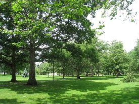 Present day view of Tappan Square